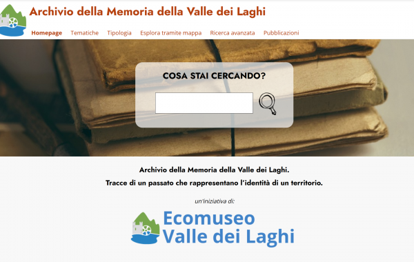 Digital archive Ecomuseo Valle dei Laghi